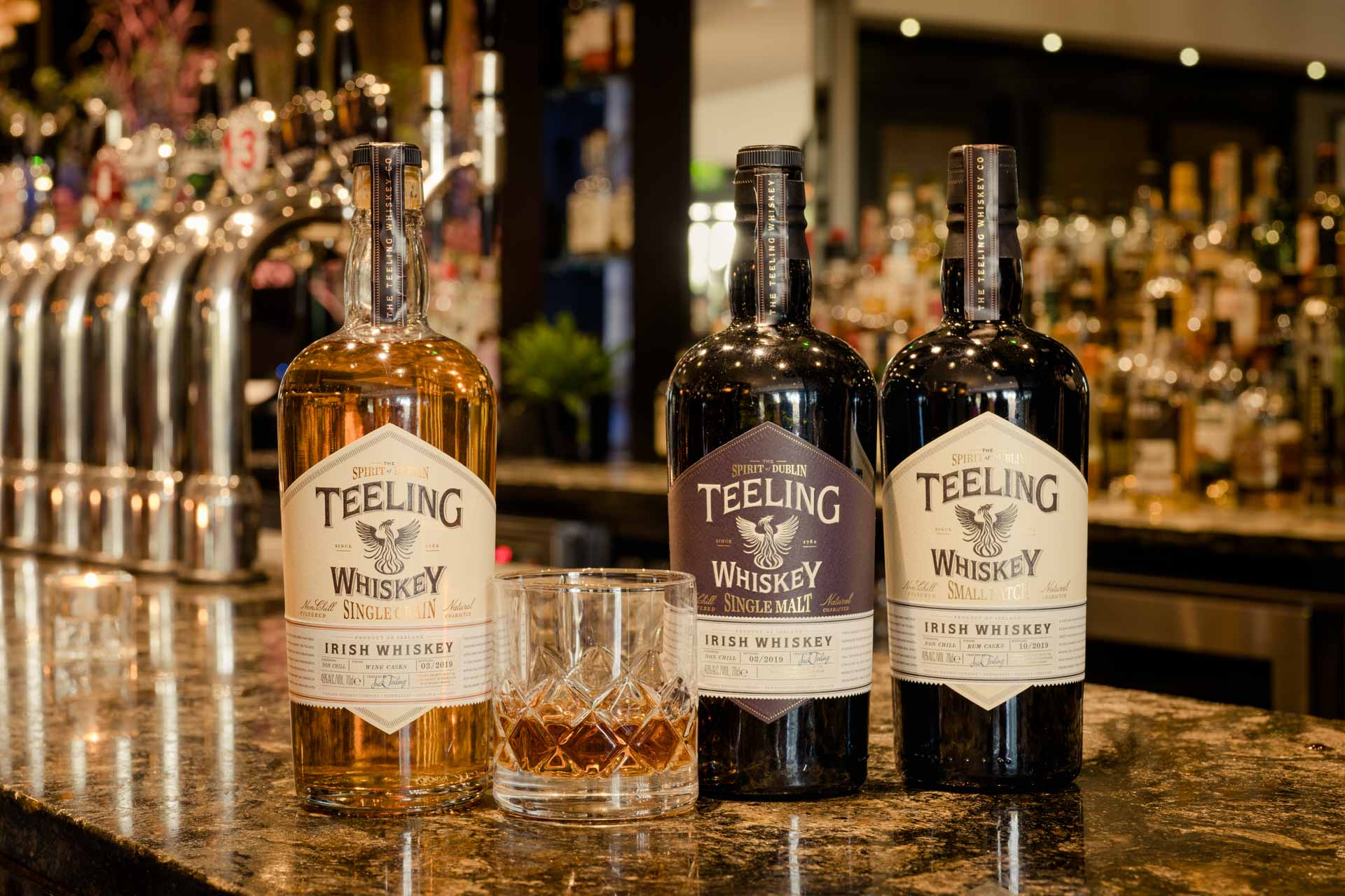 Teeling Whiskey served at the Iveagh Bar in The Ashling Hotel Dublin.